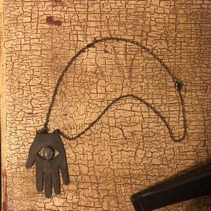 Jewelry - Witchy Evil Eye Necklace w Labradorite